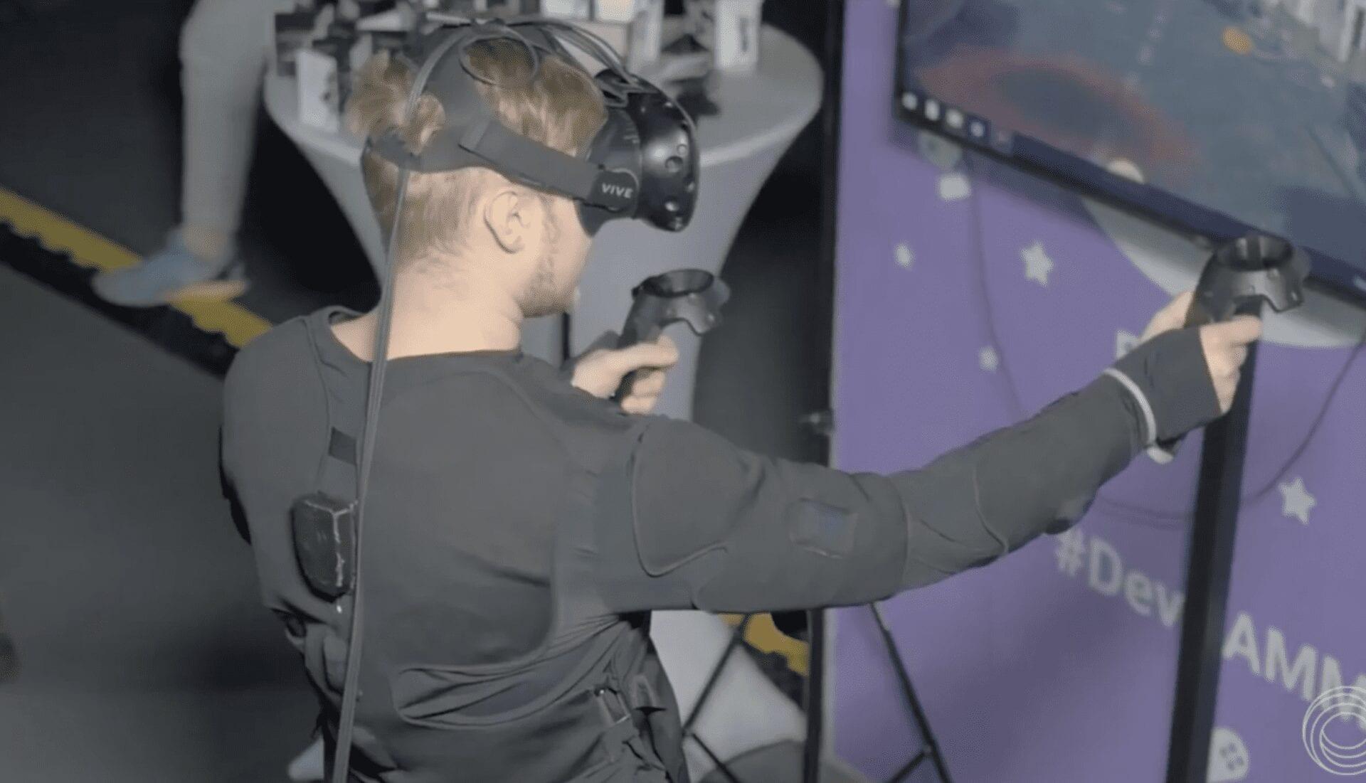 Teslasuit VR haptic suit at DevGAMM 2017 Minsk