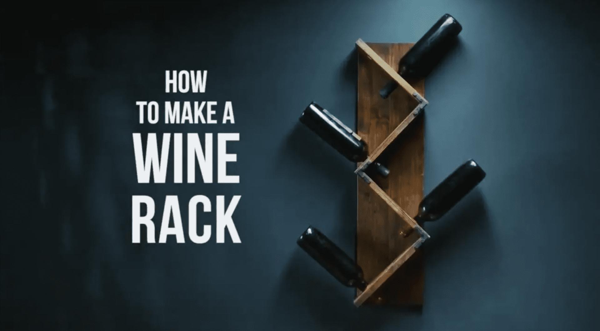 How to make a wine rack — Lifehack video