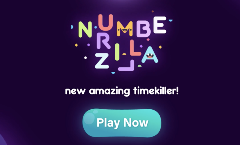 UA gameplay video creatives for mobile game Numberzilla