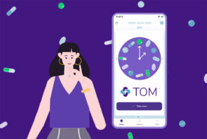 Animated UA video creatives for mobile health app TOM